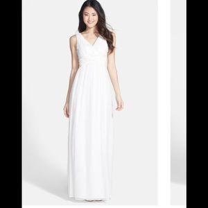 """Donna Morgan """"Julie"""" twist front v-neck gown"""